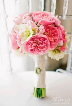 Another pretty bouquet with deeper pinks