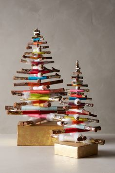 Anthropologie - Cozy Kindling Mini Tree, could DIY this Christmas Love, Homemade Christmas, All Things Christmas, Christmas Holidays, Christmas Decorations, Christmas Ornaments, Stick Christmas Tree, Ideas Decoracion Navidad, Anthropologie Christmas