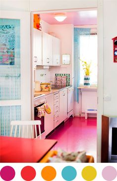 I love rooms like this that are just a riot of colors