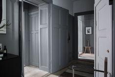 Lotta Agatons apartment for sale Interior Design Magazine, Best Interior Design, Gray Interior, Luxury Interior, Interior Window Shutters, City Living, Living Room, Blue Bedroom, Apartments For Sale