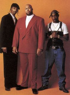 Death Row Records co-founder Suge Knight w/ Snoop and 2Pac