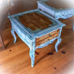 Refurbished Furniture, Paint Furniture, Shabby Chic Furniture, Antique Furniture, Furniture Ideas, Furniture Makeover, Repurposed Furniture, Refurbished End Tables, Repurposed Items