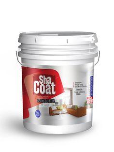 Shacoatinterior label design by Brandz Label Design, Packaging Design, Branding Design, Karate Kid 2010, Industrial Packaging, Paint Buckets, Paint Brands, Cosmetic Packaging, Good Housekeeping