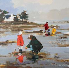 EN FAMILLE - Painting, 100x100 cm ©2011 par Ewa Rzeznik - Peinture