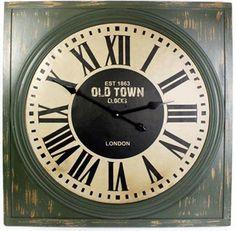 Square Wall Clock ~ Est 1863 Old Town Clocks London - Wall Clocks