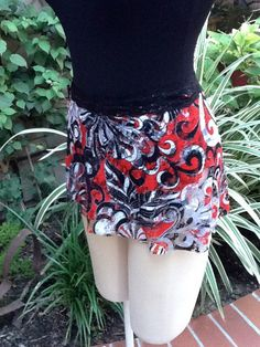 NEW Dance Ballet Short Wrap Skirt Red Black and by ASummersDream, $15.00