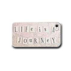 Life is a Journey, iPhone 5 4 4s Case, iPhone 4, Pastel Pink, Typography, Travel, Cell Phone Case, Accessory for iPhone on Etsy, $32.00