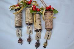 Corcho del vino hermoso y único ornamento con por SimplyChina