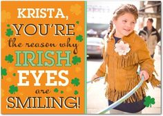 St Patricks Day Cards Smiling Eyes - Front : Pumpkin  #Treatgifts
