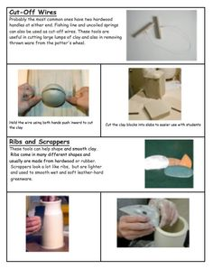 Introduction to clay tools ~The Simplicity of Learning Clay Tools, The Potter's Wheel, Preschool Art, Ceramics, Learning, Sculpture, 3d, Search, Ceramica