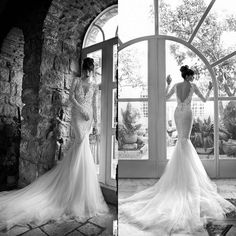 Cheap 2014 Wedding Dress - Discount New Lace Mermaid Wedding Dresses Long Sleeves Sheer Online with $151.75/Piece | DHgate