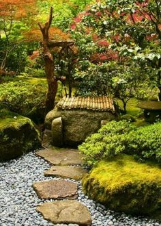 Here are some tips for how to make a Japanese garden for you. Less is more, so stick to just a few types of plants. Japanese gardens are often sparsely planted, so the spaces around the plants are as…MoreMore #japanesegardening