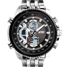 Men Sports Watches LED Multi-functional Military Business Watches Men Full Steel Digital Led Electronic watch