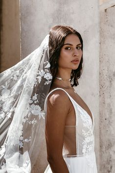 Untamed Heart | The Brand New Wedding Dress Collection from Lovers Society Veil, Blooming Rose, New Wedding Dresses, The Crown, Ethereal, Dress Collection, Mists, Off White, Bell Sleeves