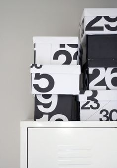 The Stendig Calender. Clever craft boxes.  www.alexfultondesign.com