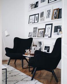 Black & White Trend mit flauschigem Teppich