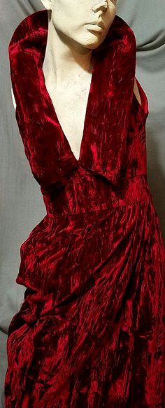 Check out this item in my Etsy shop https://www.etsy.com/listing/468982434/vintage-70s-80s-crushed-ruby-red-velvet