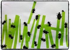 fourmis en empreintes de doigts, jardin, herbe, bricolage enfant, printemps Preschool Classroom Decor, Preschool Art Projects, Art Activities, Preschool Crafts, Ant Crafts, Insect Crafts, Ant Art, Art For Kids, Crafts For Kids