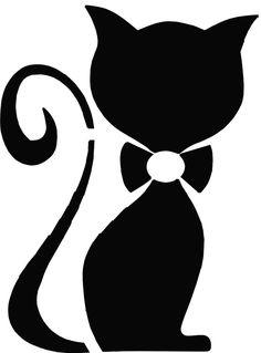 www.kreativ-wish . Stencil Patterns, Stencil Designs, Mosaic Patterns, Silhouette Cameo, Cat Template, Cat Applique, White Decorative Pillows, Cat Quilt, Cat Crafts