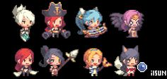 Dots Game, Anime Pixel Art, Pixel Characters, Pixel Art Games, Creature Design, Game Design, Game Art, Art Reference, Character Design