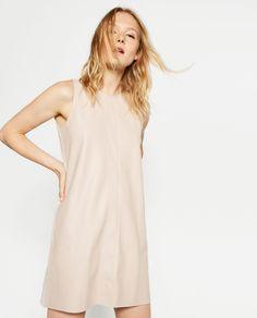 ZARA - WOMAN - FAUX LEATHER DRESS
