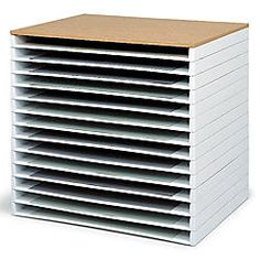 Safco Giant Stack Trays 3 H x 39 W x 26 D White Pack Of 2 by Office Depot & OfficeMax