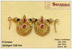 Jewelry Design Earrings, Gold Earrings Designs, Gold Jewellery Design, Bridal Jewelry, Beaded Jewelry, Gold Mangalsutra Designs, Gold Chain Design, Gold Jewelry Simple, Jewelry Model