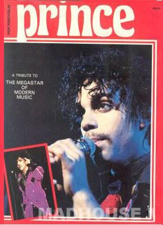 PRINCE - POP PORTFOLIO  MAGAZINE 1984