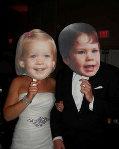 Adorable personalized #baby face #props at this #wedding! Photo Definitely doable