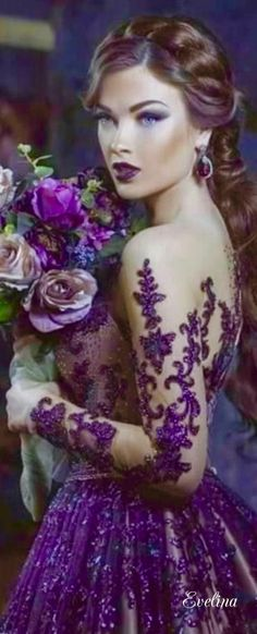 More information Passionate Purples! Terry La Buy Passionate Purples! Purple Love, All Things Purple, Shades Of Purple, Deep Purple, Pink Purple, Purple Outfits, Purple Dress, Lila Gold, Color Violeta