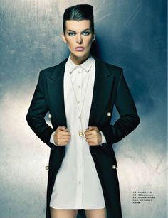 Milla Jovovich on Cover for Harper's Bazaar Hong Kong August 2013 |MagSpider