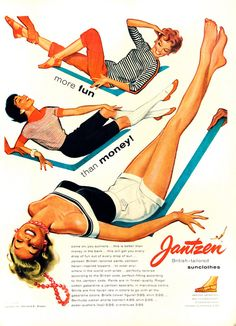 1949 Jantzen Sunclothes Vintage Advertisement Pin Up Art Bedroom Wall Art Womens Fashion Boutique Decor Original Magazine Print Ad Ephemera by RelicEclectic on Etsy Vintage Humor, Vintage Ads, Vintage Images, Vintage Posters, Vintage Branding, Vintage Pictures, Retro Advertising, Retro Ads, Vintage Advertisements