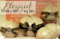 Dollar Store Crafts » Blog Archive » Thanksgiving Craft: Make an Elegant Pumpkin Centerpiece