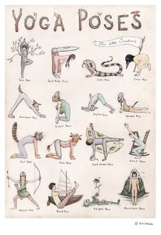 This detailed hand-illustrated yoga poster features sixteen characters demonstra&; This detailed hand-illustrated yoga poster features sixteen characters demonstra&; shabby 77 Yoga This detailed hand-illustrated yoga poster features sixteen […] poster Yoga Fitness, Fitness Workouts, Yoga Inspiration, Yoga Nature, Relaxing Yoga, Yoga For Kids, Kids Yoga Poses, Yoga Poses Names, Yoga Poses Chart