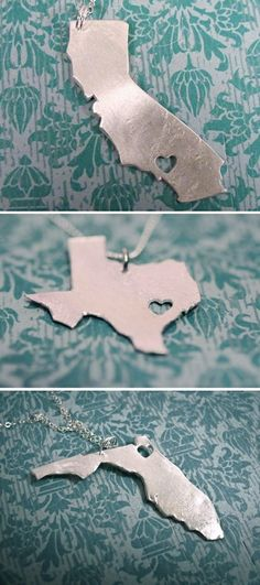 How adorable are these love your state necklaces
