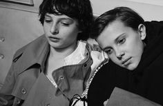 Stranger Things Finn Wolfhard and Millie Bobby Brown Dazed magazine photoshoot outtake Photo credit: collierschorrstudio (on Instagram)