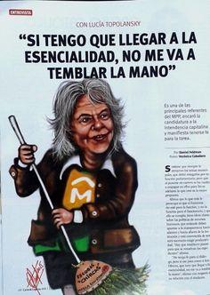 Lucia Topolansky - Publicado en Revista CARAS y CARETAS