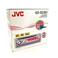 JVC Pink Car Radio Stereo head unit Cd Mp3 Player Kd-Sc401 Front Aux In NEW Radios, Head Unit, Portable, Mp3 Player, Car, Pink, Automobile, Vehicles, Pink Hair