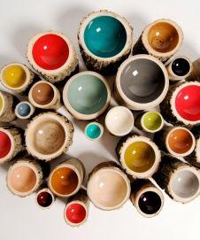 Log bowls ~ these would be pretty decorating a wall ~ Shop | Loyal Loot ~ wtb