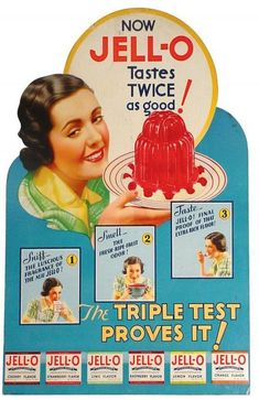 Chronically Vintage: Adventures in Vintage Advertising: Jell-O Gelatin