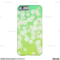 Bokeh Green Lime Barely There iPhone 6 Case