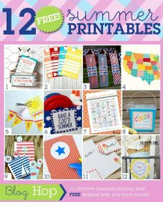 July Grid {Summer} Free printables