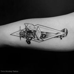 thanks for today guys.  #twinmonkeytattoo #tattoo #tattoos #aeroplane #line #dott #tattooistartmagazine #tatuaje #blxckink #blackwork #ink #intenze