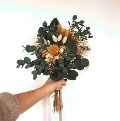 Diy Bouquet Mariage, Boho Wedding Bouquet, Floral Wedding, Fall Wedding, Dream Wedding, Wedding Yellow, Mustard Yellow Wedding, Rustic Bouquet, Wedding Ideias