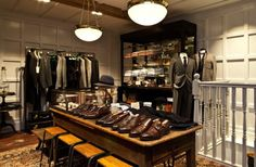 Making their London menswear debut, Club Monaco invite us for a tour around their new 'Men's Shop' on Redchurch Street, Shoreditch Mens Store Display, Men Store, Ralph Lauren Shop, London Clubs, Shopping Street, Space Images, Club Kids, Coffee Table Books, Club Monaco
