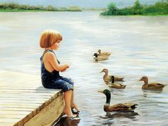 Golden childhood, Brush with a description of the lovely world, Donald Zolan Paintings.