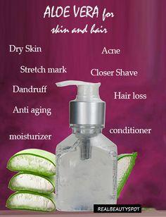 aloe vera for healthy skin and hair