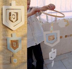 Nesting Dreidel Mobile Craft Kit from Little Tzaddik