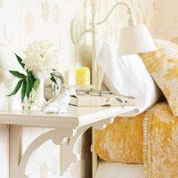 shelves as bedside table.....