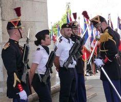 Military ceremonies in Arc de Triomphe